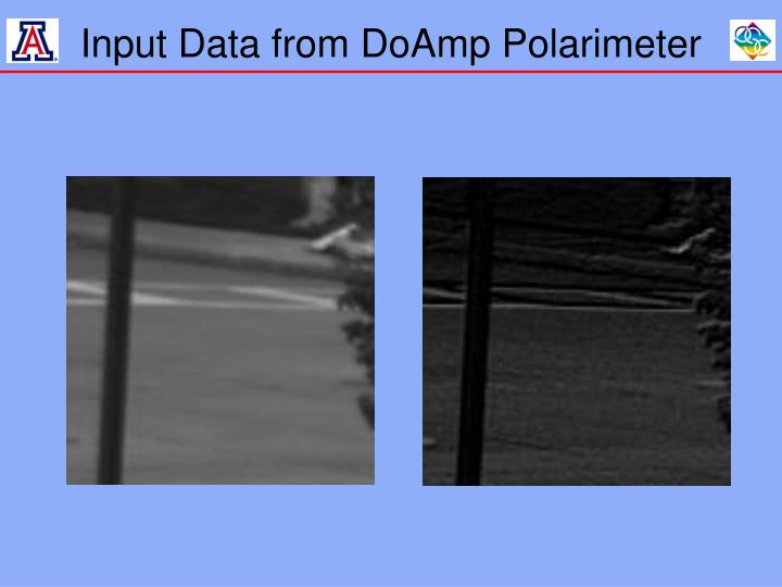 Input Data from DoAmp Polarimeter