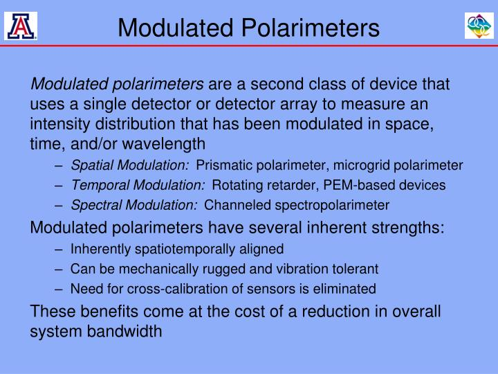 Modulated Polarimeters