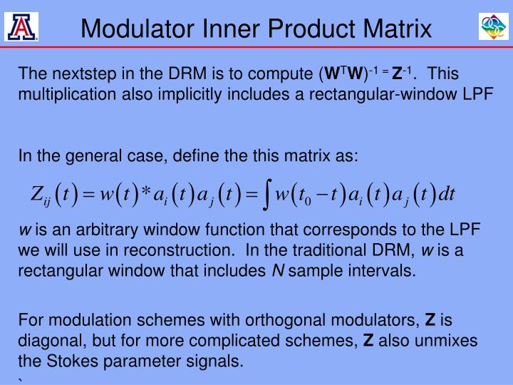 Modulator Inner Product Matrix