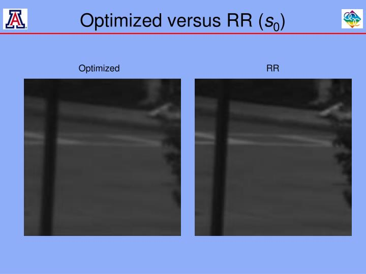 Optimized versus RR (