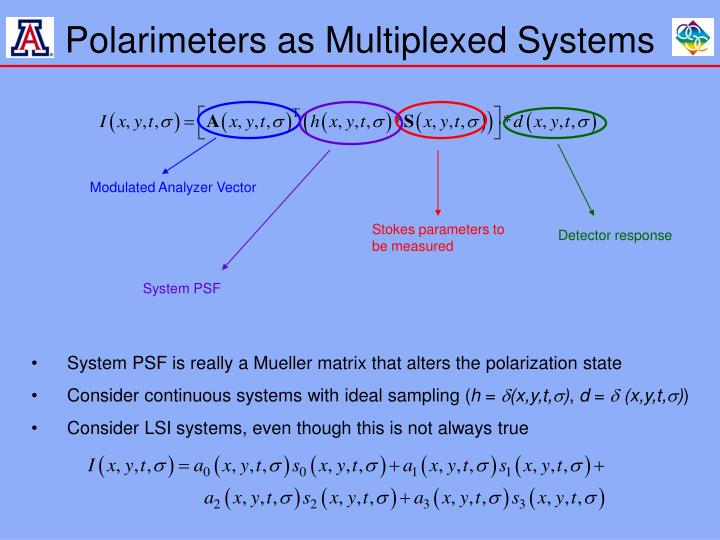 Polarimeters as Multiplexed Systems
