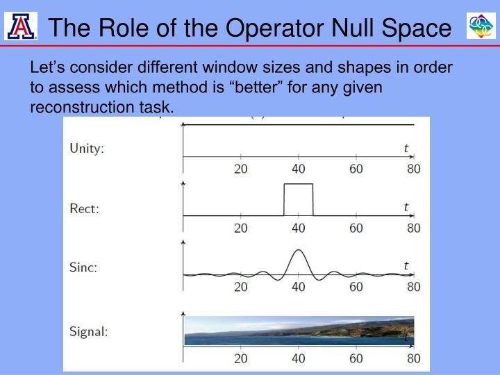 The Role of the Operator Null Space