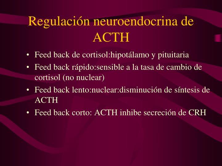 Regulación neuroendocrina de ACTH