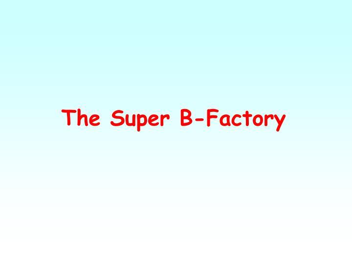 The Super B-Factory