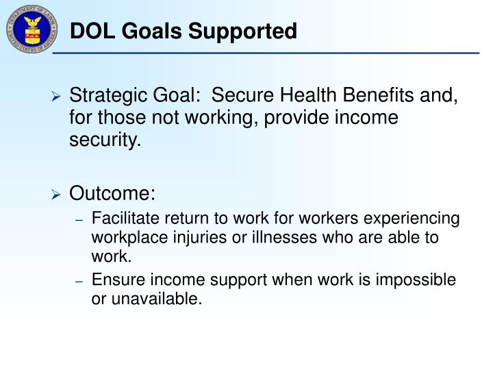 Dol goals supported