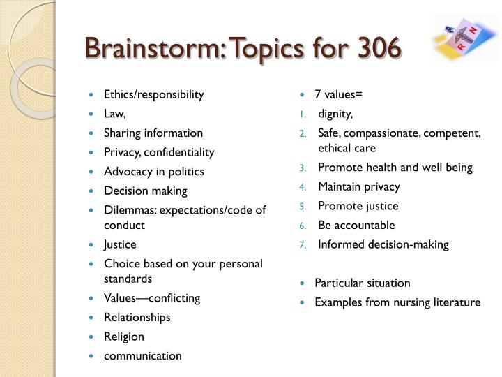 Brainstorm: Topics for 306