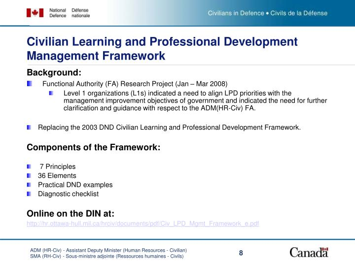 Civilian Learning and Professional Development Management Framework
