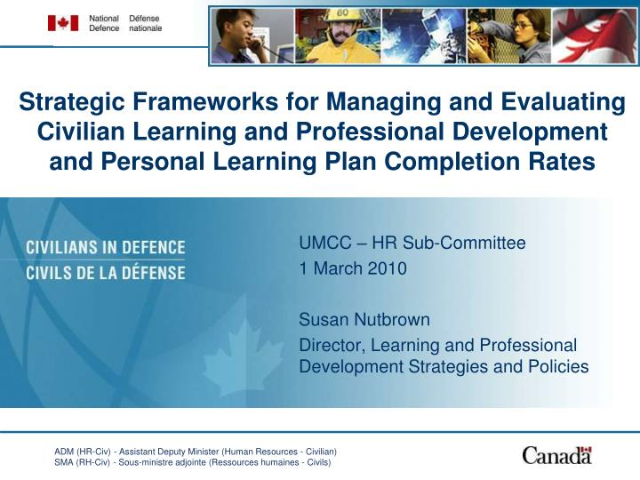 Strategic Frameworks for Managing and Evaluating Civilian Learning and Professional Development