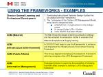 using the frameworks examples