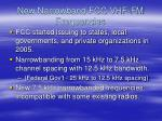 new narrowband fcc vhf fm frequencies