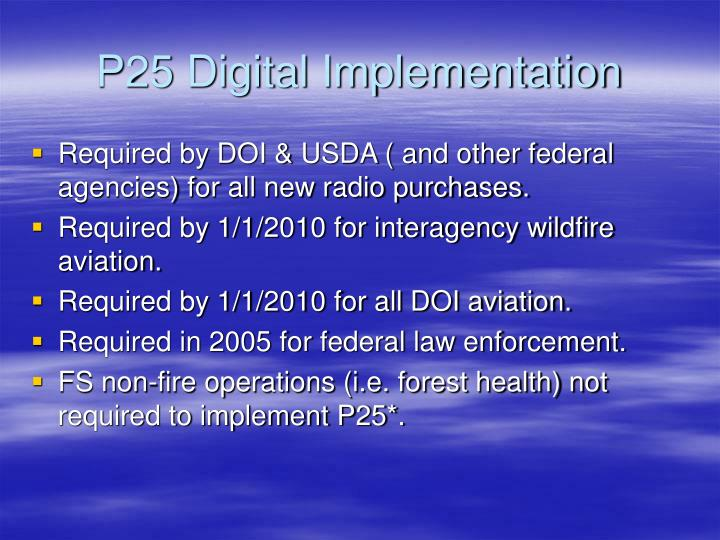 P25 Digital Implementation