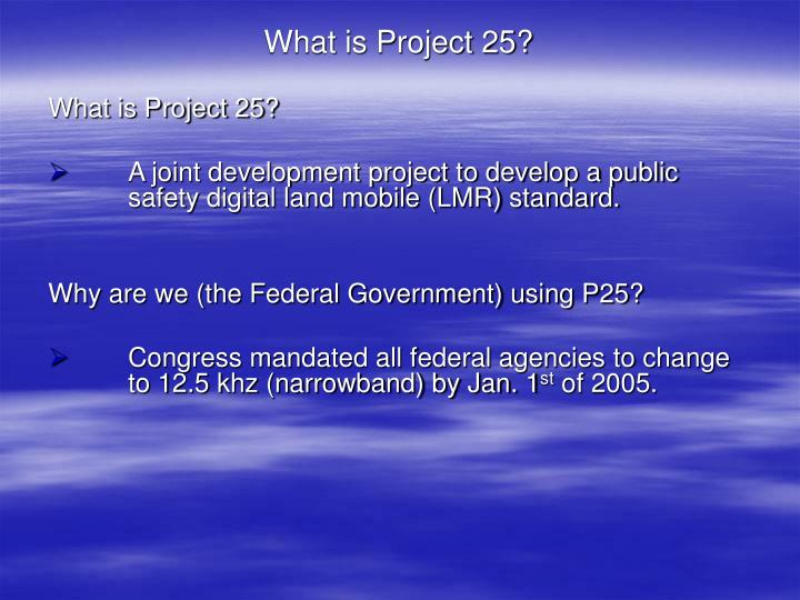 What is Project 25?