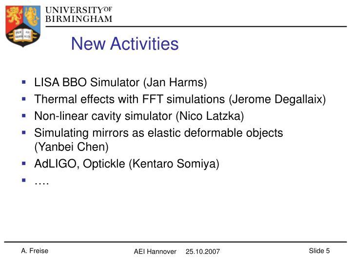 New Activities