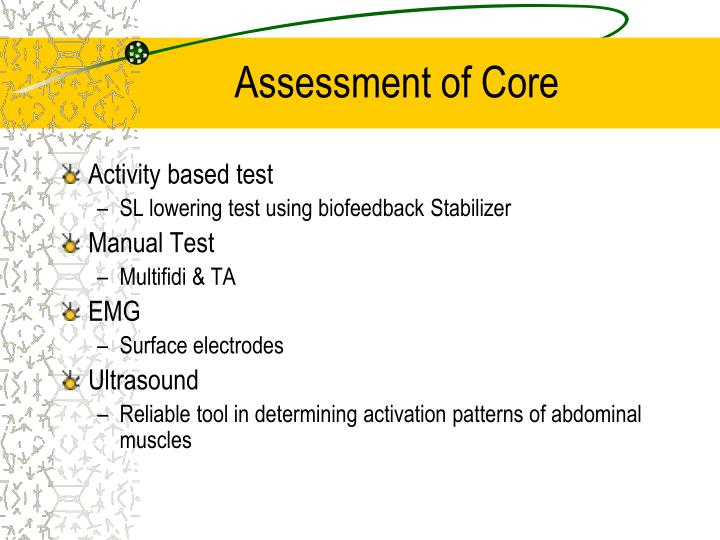 Assessment of Core