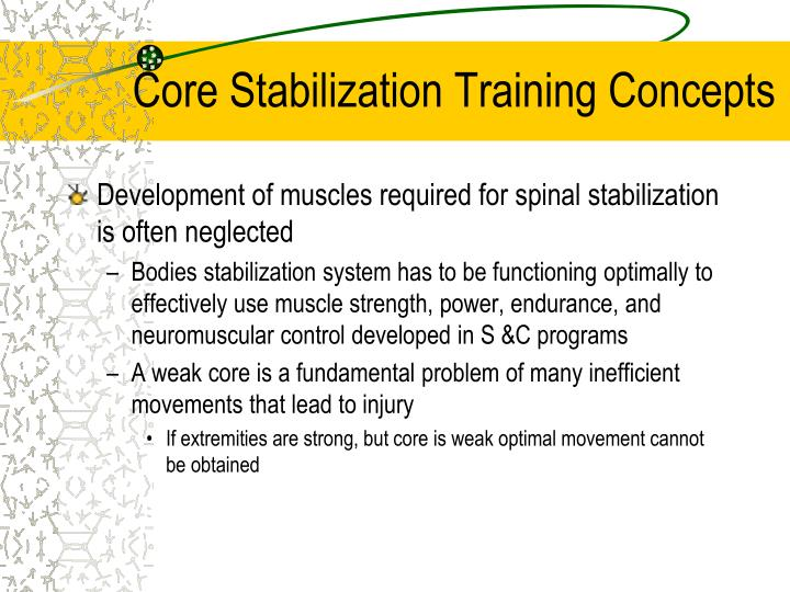 Core Stabilization Training Concepts