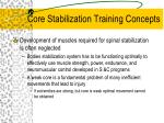 core stabilization training concepts