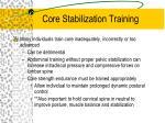 core stabilization training