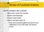 review of functional anatomy9