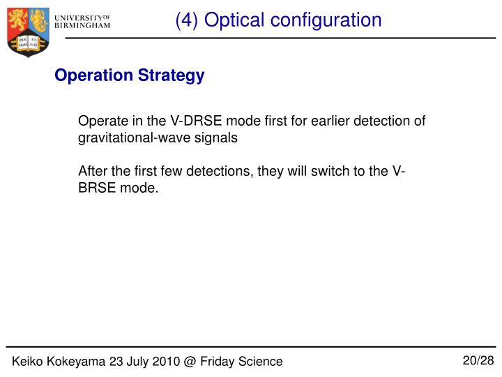 (4) Optical configuration