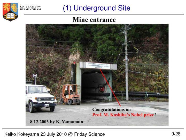 (1) Underground Site
