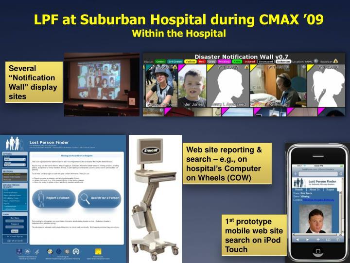 LPF at Suburban Hospital during CMAX '09