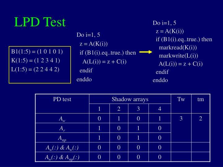 LPD Test