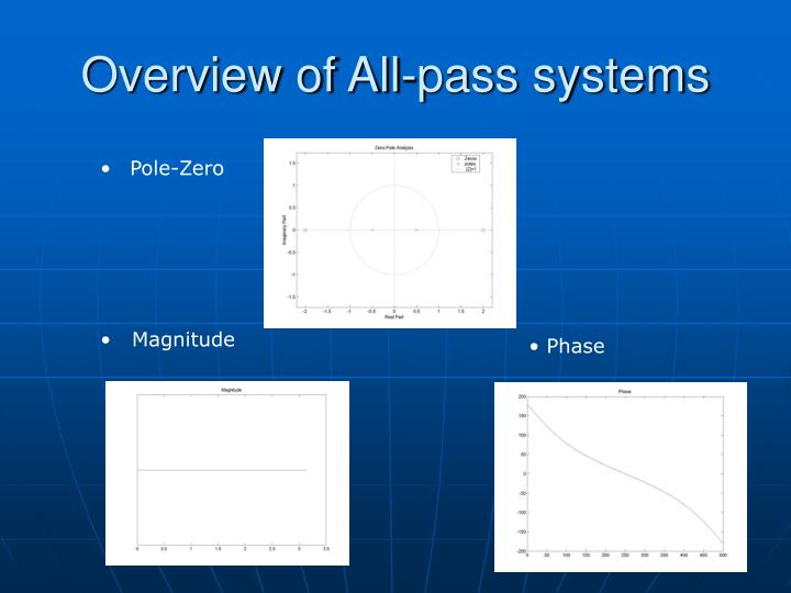 Overview of All-pass systems