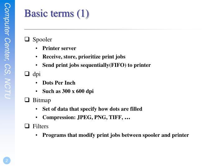 Basic terms (1)