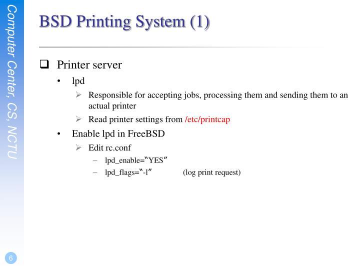 BSD Printing System (1)