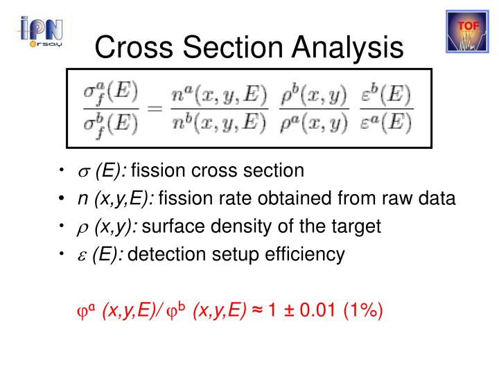 Cross Section Analysis