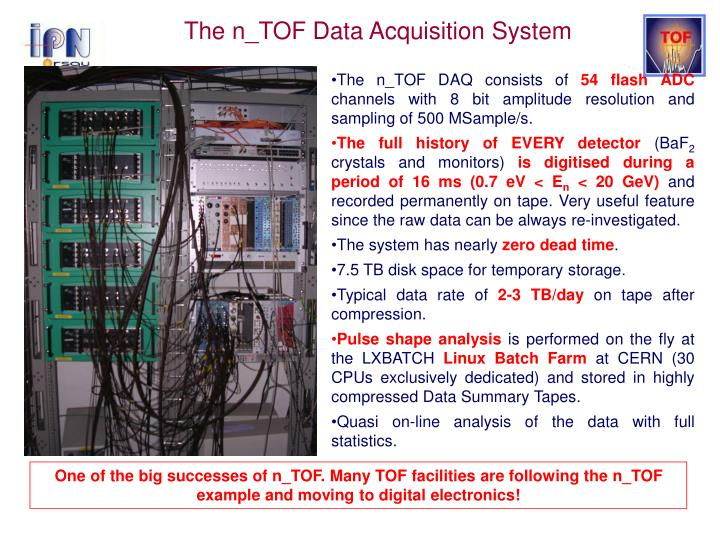 The n_TOF Data Acquisition System