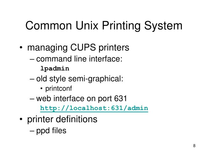 Common Unix Printing System