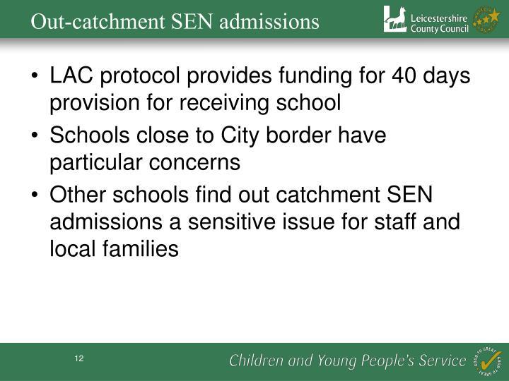 Out-catchment SEN admissions