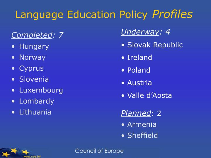 Language Education Policy