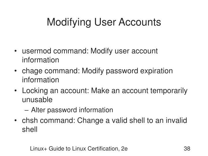 Modifying User Accounts