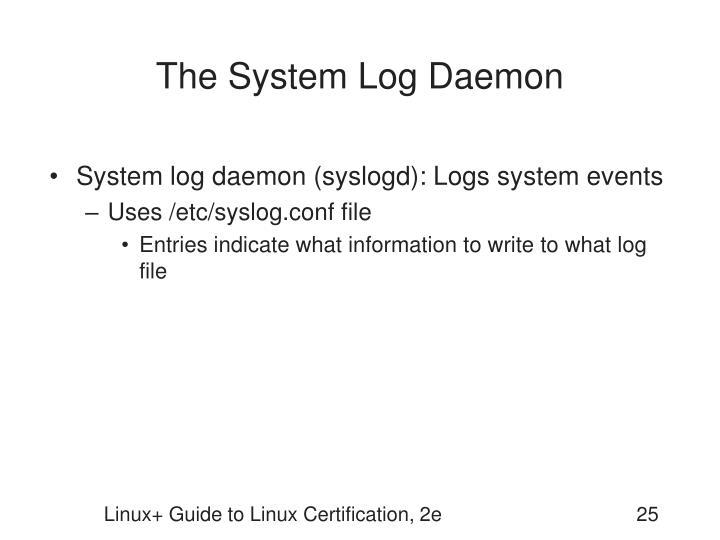 The System Log Daemon