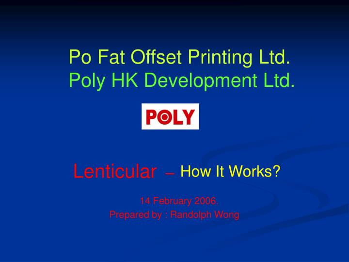 Po Fat Offset Printing Ltd.