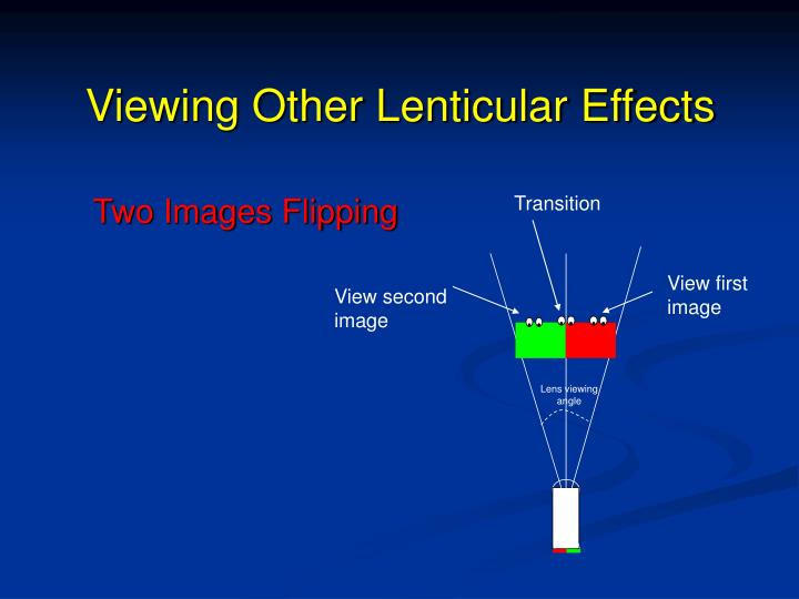 Viewing Other Lenticular Effects