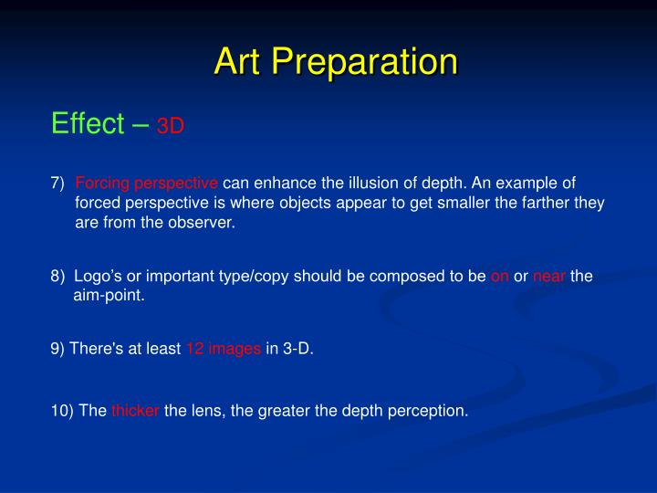 Art Preparation