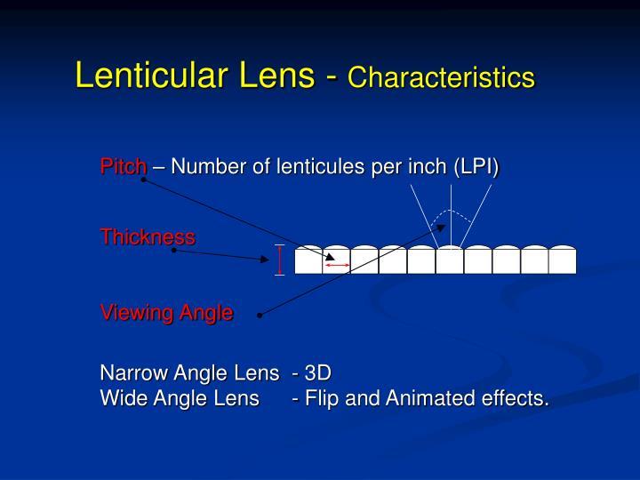 Lenticular Lens -