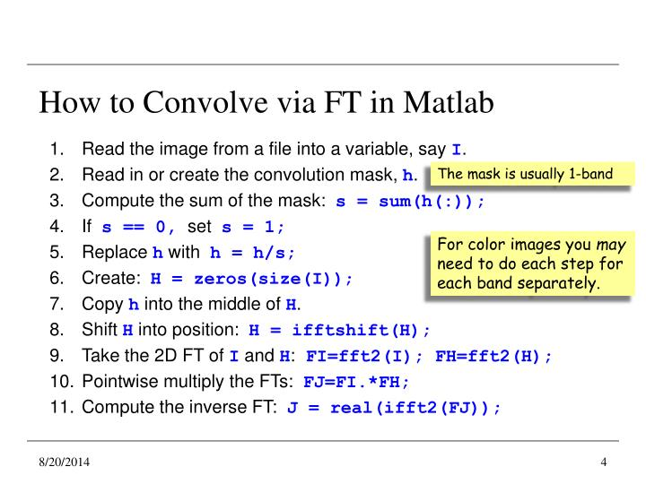 How to Convolve via FT in Matlab