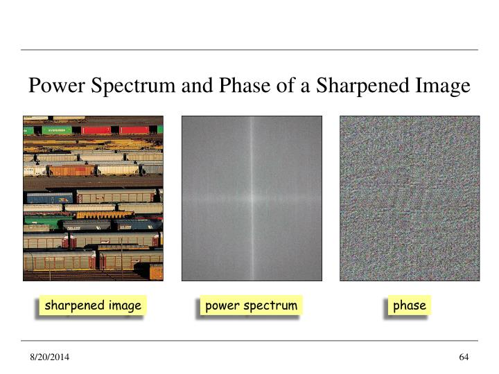Power Spectrum and Phase of a Sharpened Image