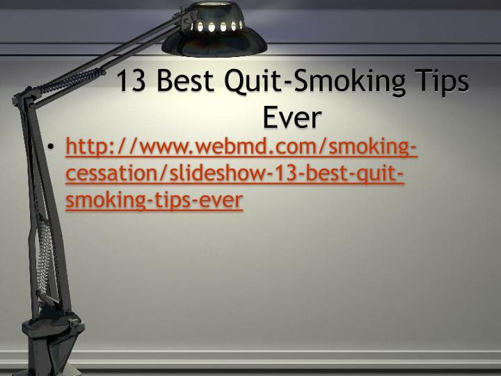 13 Best Quit-Smoking Tips Ever