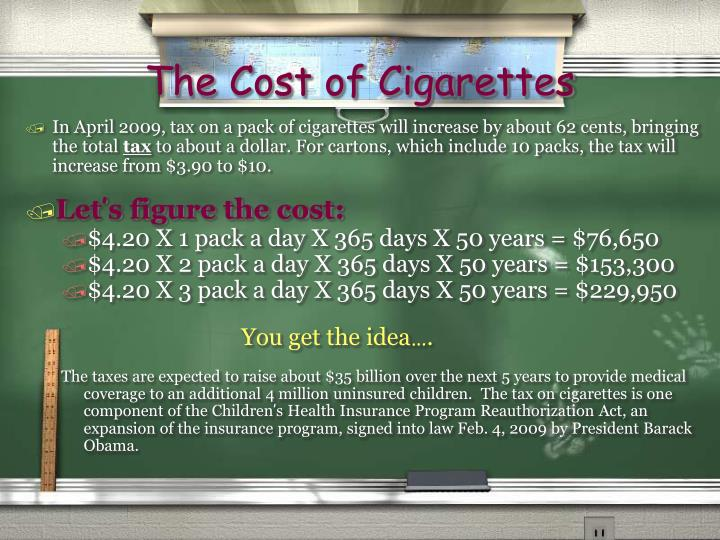 The Cost of Cigarettes