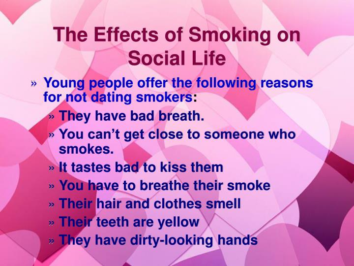 The Effects of Smoking on Social Life