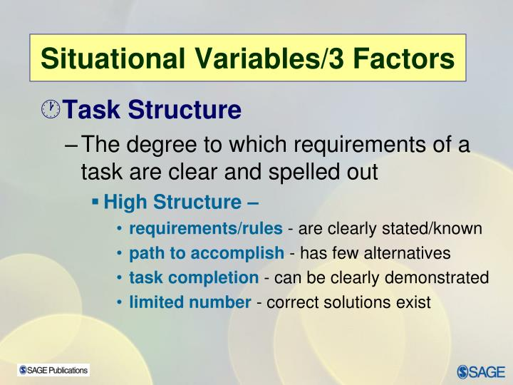 Task Structure