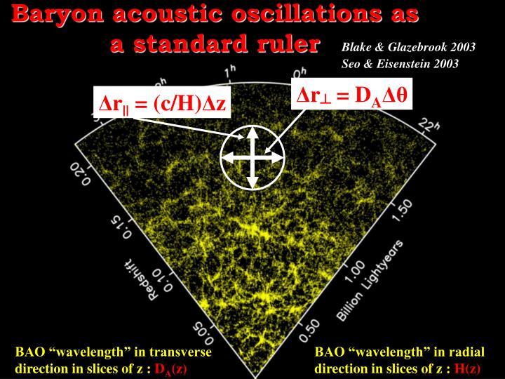 Baryon acoustic oscillations as