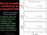 baryon acoustic oscillations as a standard ruler1