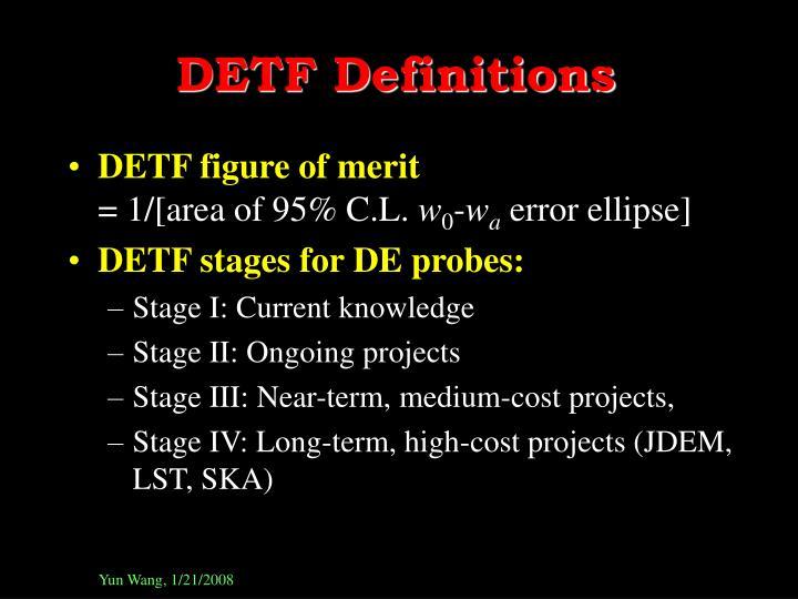 DETF Definitions