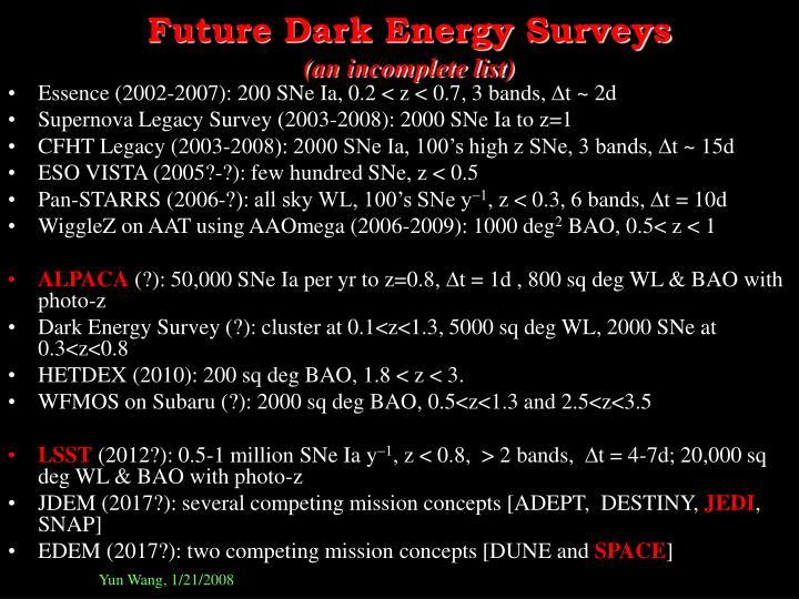 Future Dark Energy Surveys